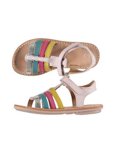 Girls? smart leather multi-strap sandals FFSANDMIN4 / 19SK35D2D0E030