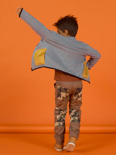 Child boy's reversible fleece vest with zip MOSAUGIL / 21W902P1GILJ922