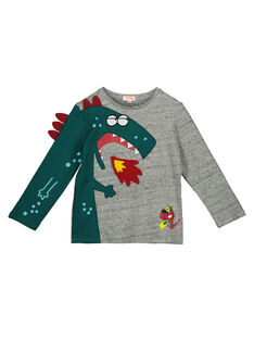 Boys' long-sleeved printed T-shirt GOVETEE / 19W90221TML927