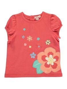 Baby girls' short-sleeved T-shirt CIBUTI3 / 18SG09K3TMCF515