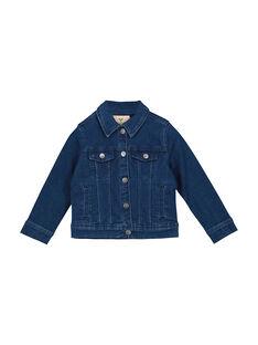 Girls' embroidered denim jacket FACOVEST1 / 19S901X1VESK005