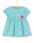 Baby girl turquoise dress LIVERROB3 / 21SG09Q4ROBC216