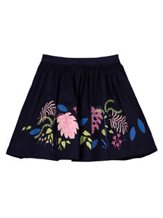 Girls' printed trapeze skirt GABLEJUP / 19W90191JUP070