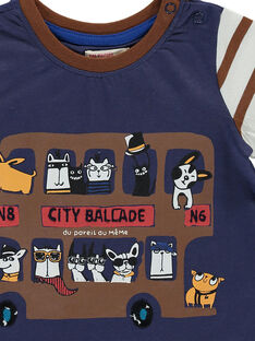 Baby boys' short-sleeved T-shirt DUCHOTEE1EX / 18WG10F1TMC710