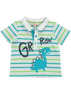 Baby boys' short-sleeved polo shirt CUDOUPOL / 18SG10J1POL099