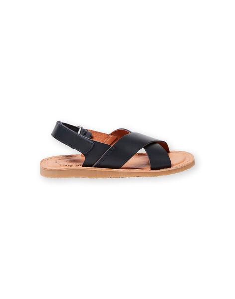 Navy blue sandals for boys LGSANDLEO / 21KK3658D0E070
