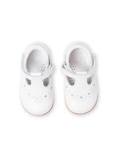 Baby girl white pumps LBFSALCOEUR / 21KK3733D13000