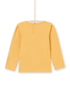 Girl's long-sleeved mustard T-shirt with lace MAJOSTEE3 / 21W9012BTMLB106