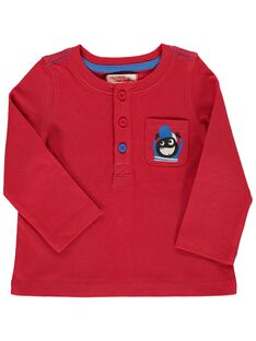 Baby boys' red long-sleeved T-shirt DUJOTUN1 / 18WG1031TMLF508