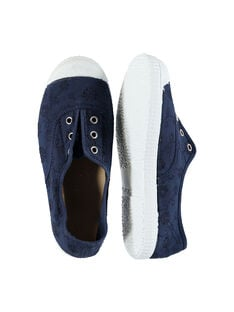 Girls' embroidered canvas trainers FFTENBROD4 / 19SK35B8D16070