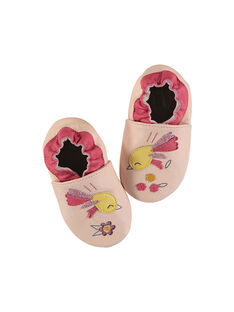 Baby girl's leather slippers. FNFBIRD / 19SK3735D3S404