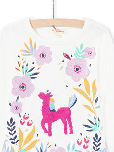 Baby girl pink and white t-shirt MAPLATEE2 / 21W901O1TML001