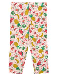 Girls' fruit print leggings FYAYELEG / 19SI01M1CAL099