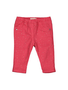 Baby girls' trousers FIJOPAN3 / 19SG0932PAN308