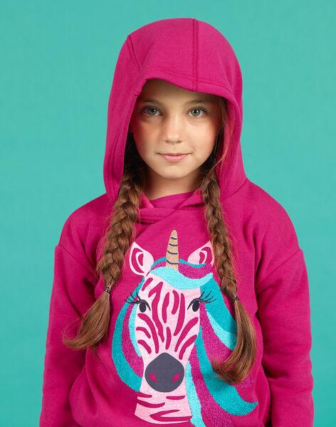 Girl's pink unicorn hoodie MATUSWEA / 21W901K1SWED312