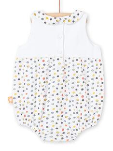 Girl's white and yellow polka dot romper LOU2BAR / 21SF03I1BAR000