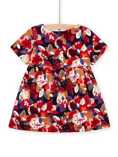 Baby girl floral velvet dress MIFUNROB1 / 21WG09M1ROB070