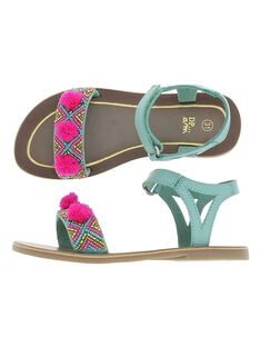 Girls' leather sandals CFSANDPOM / 18SK35WHD0E202