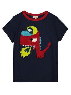 Boys' printed short-sleeved T-shirt GOVETI1 / 19W90222TMC705
