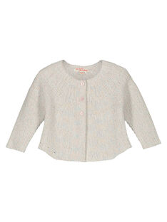 Baby girls' mixed knit cardigan GIBLECAR / 19WG0991CAR001