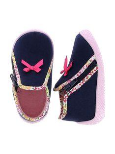 Baby girls' boot slippers. CBFBOTBLE / 18SK37X1D0A070