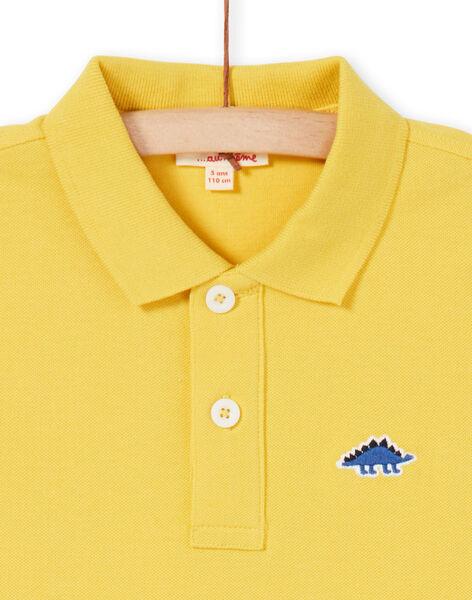 Yellow polo shirt - Boy LOJOPOL5 / 21S90243POL102
