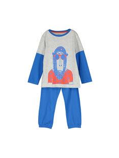 Boys' cotton pyjamas FEGOPYJSIN / 19SH124APYJJ908