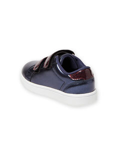 Navy blue sneakers child girl MABASMARION / 21XK3571D3F070
