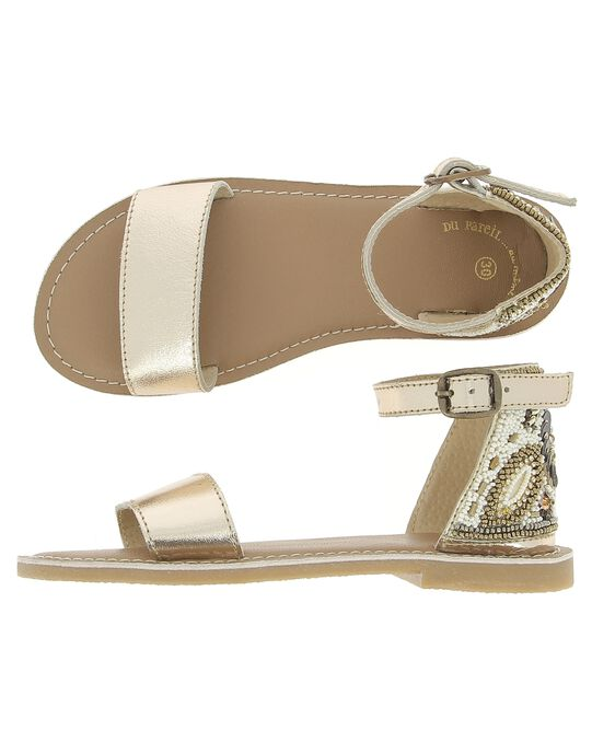 Girls' leather sandals CFSANDPERL / 18SK35W8D0E954