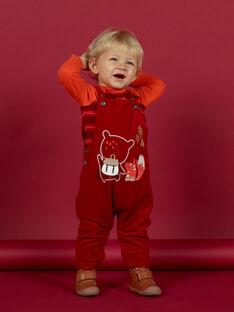 Baby boy's red corduroy overalls with fancy pattern MUFUNSAL1 / 21WG10M2SAL510