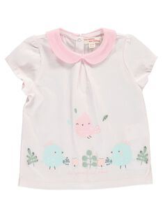 Baby girls' short-sleeved T-shirt CCFTI2 / 18SF03C1TMC301