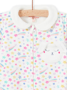 Baby girl fancy print romper with claudine collar MEFIGRENUI / 21WH1395GRE001