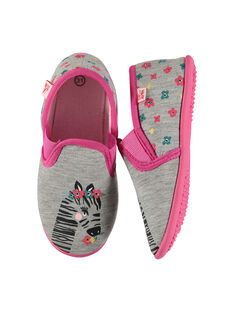 Girls' slip-on slippers FFSGZEBR / 19SK3531D0B943