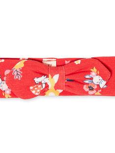 Red baby girl printed headband LYIHABAND / 21SI09X1BAN505