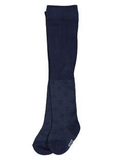 Baby girls' navy blue tights FYIJOCOL3 / 19SI0932COLC205