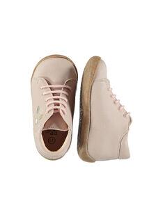 Baby girls' smart leather boots FBFBOTFLEU / 19SK3731D0F030