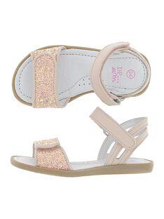 Girls' leather sandals CFSANDVEL / 18SK35WAD0E030