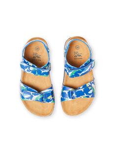 Baby boy navy blue shark sandals LGNUREQUIN / 21KK3654D0E070
