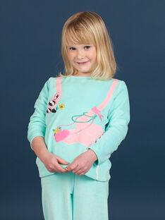 Children's pajamas girl velvet flamingo pattern LEFAPYJFLA / 21SH1112PYJC242
