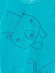 Baby boy blue velvet sleep suit LEGAGRECAL / 21SH1456GREC240