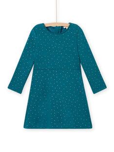 Girl duck blue fleece skater dress MAJOLROB3 / 21W901N2ROB714