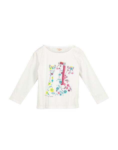 Girls' long-sleeved T-shirt FACATEE1 / 19S901D1TML000