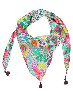 Girls' printed scarf FYACAFOUL / 19SI01D1FOU099