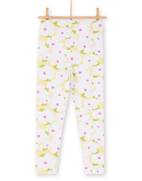 Flowered leggings for children and girls LYAJAULEG2 / 21SI01O2CAL000
