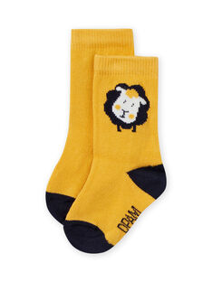 Baby boy yellow socks with sheep pattern MYUJOCHOU3 / 21WI1016SOQ117