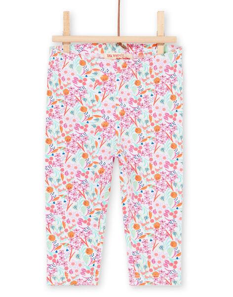 Multicolored leggings baby girl LYIVILEG / 21SI09U1CAL000