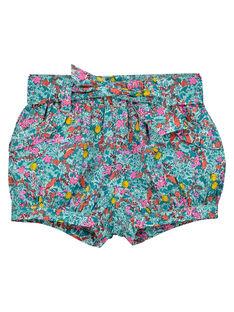 Turquoise Shorts FICUSHO2 / 19SG09N1SHO202