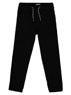 Boys' black comfy trousers GOBLEPAN1 / 19W90291PAN090