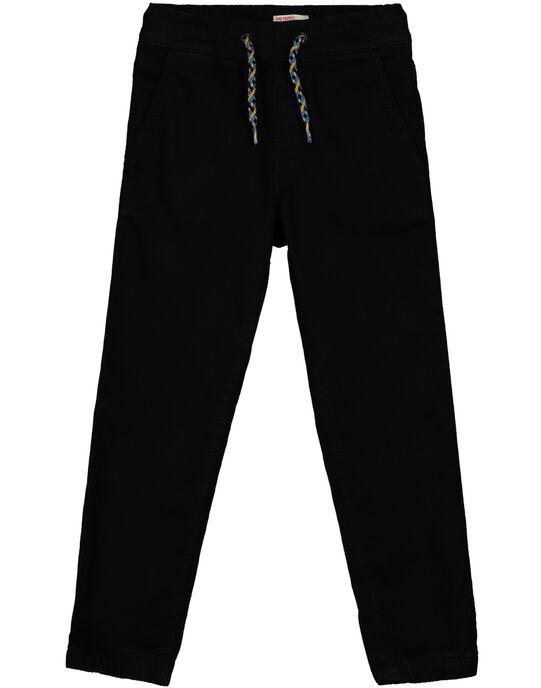 Boys' black comfy trousers GOBLEPAN1 / 19W90291PAN090