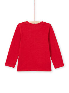 Boy's red T-shirt MOJOTEE7 / 21W902N2TML505